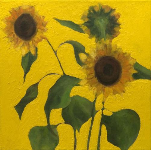 Fleurs °4 - 45x45cm - 2005