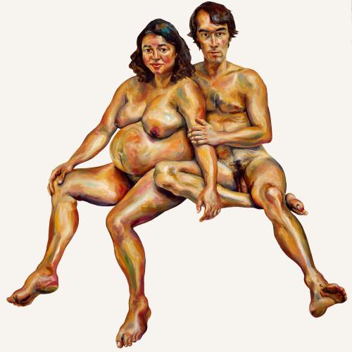Jerome et Sophie - 180x180cm - 2002