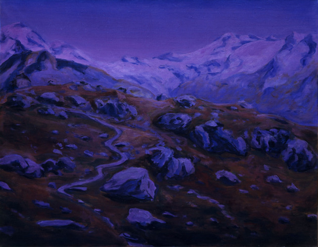 Montagnes °4 - 90x115cm - 2008