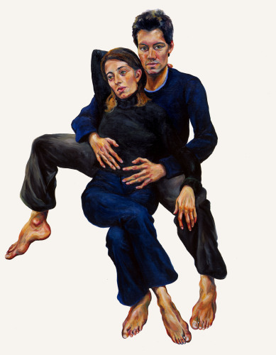 Robert et Celine - 185x145cm - 2002